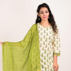Block Print Cotton Stitched Punjabi Suit