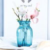 Blur glass flower vase