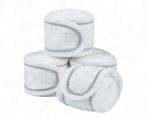 Wit/Grijs Polar fleece bandages 4 pak