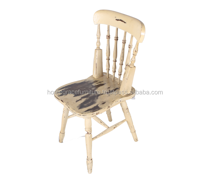 White antique chair is mahogany painted furniture with American style and very functional can use on living room and dining room