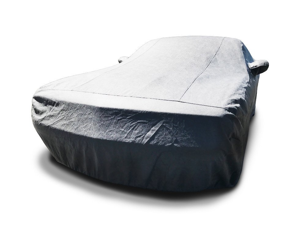 CarsCover Custom Fit 2013-2018 Dodge Challenger Car Cover 5 Layer Ultrashield Gray Covers (R/T, SRT, T/A, SXT, HELLCAT)