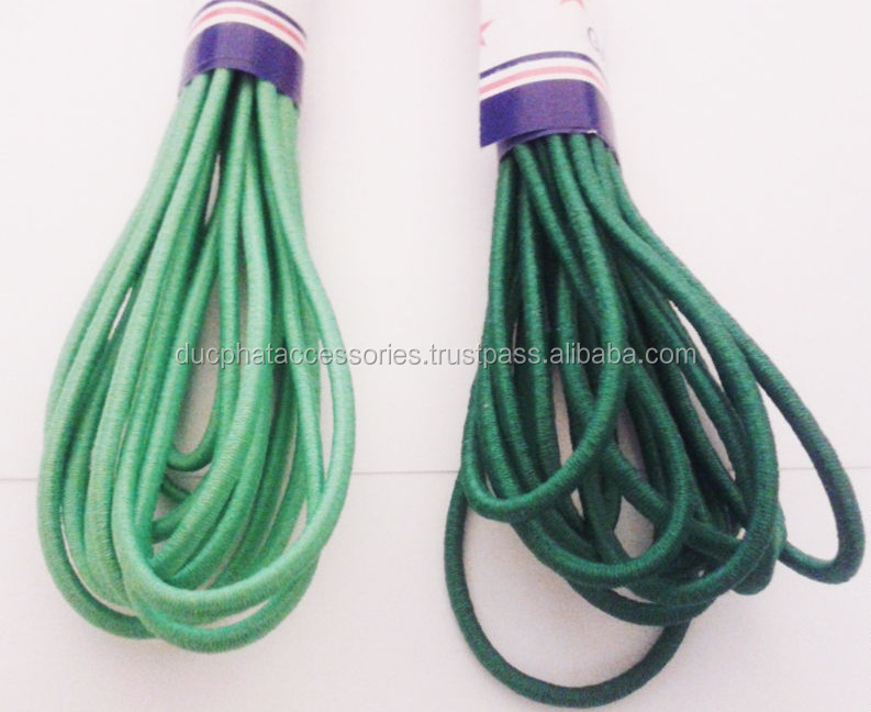 Wholesale Custom Round Braided Elastic 5mm Drawstring Cord From Vietnam Factory Direct Sale