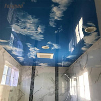 Swimming pool decoration materials blue sky pvc ceiling panel PVC Stretched soft ceiling Film