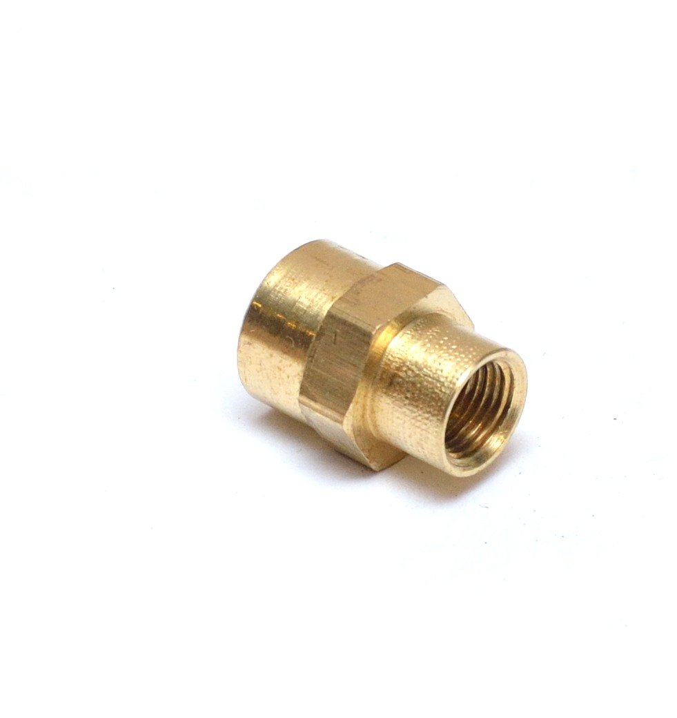 "FasParts 1/4"" Female NPT to 1/8"" Female NPT FIP FPT Reducing Coupling Brass Pipe Fitting Fuel / Air / Water / Boat / Gas / Oil WOG"