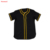 Black v-neck custom sublimated  baseball jersey wholesale good quality