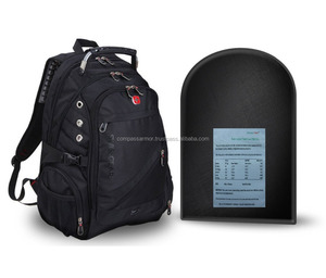 Bullet Proof Backpack Insert Backpack (Black) with Removable Bulletproof Ballistic Shield insert only