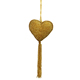Gold Color Heart Wall Hanging Ornaments