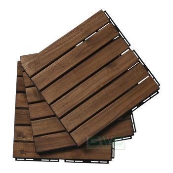 Acacia Wooden Floor Interlocking Diy Deck Tile 2018 New Design