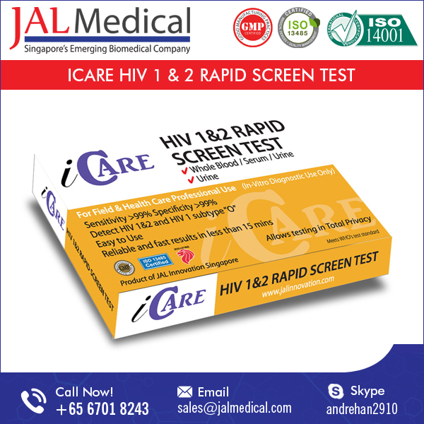 iCARE HIV 1&2 Rapid Screen Test (Whole Blood/Serum/Plasma)