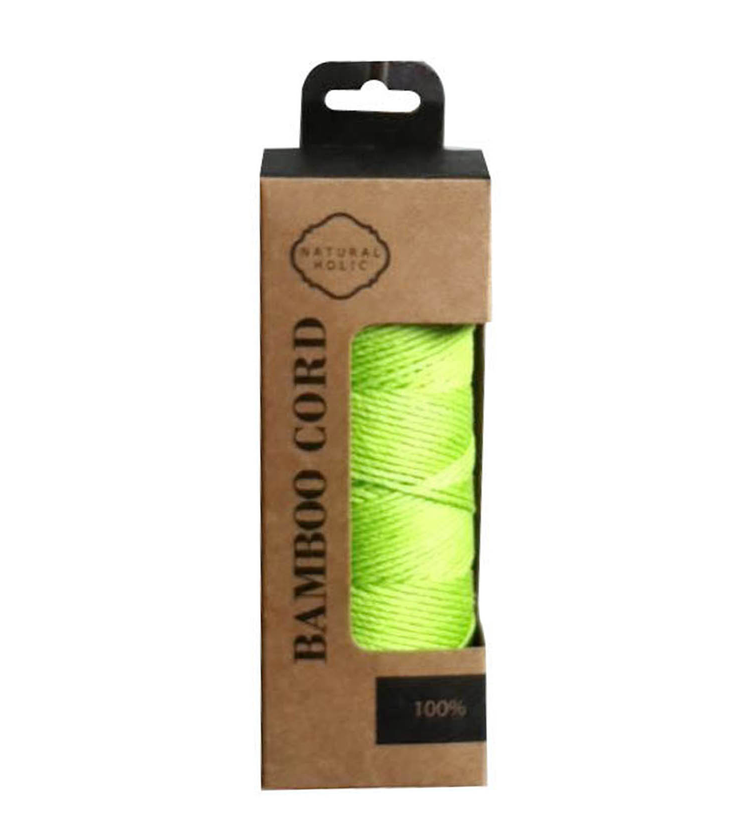 Colorful Bright Bamboo twine spool Boxed knitting yarn