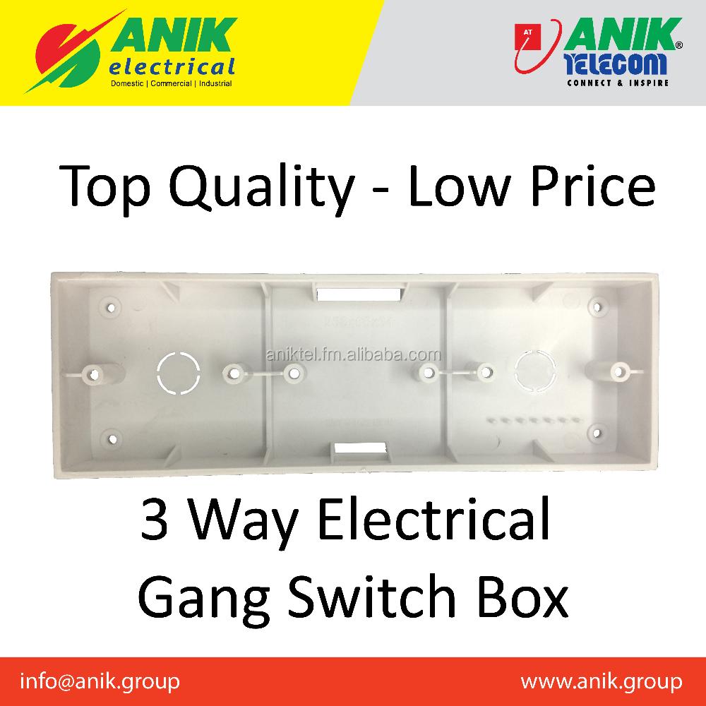 Bangladesh Electrical 3 Way Pvc Switch Box - Buy Switch Box,Gang ...