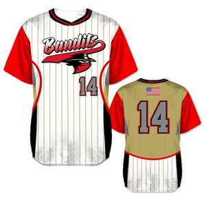 Breathable quick dry Sublimated Custom Baseball Jerseys Manufacturer