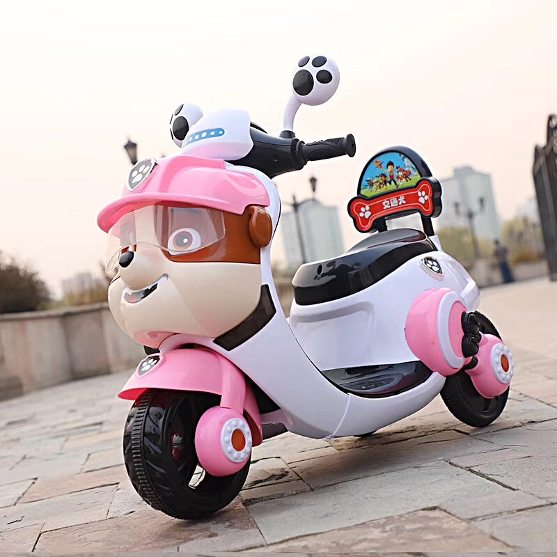 Children's electric car three-wheeled motorcycle can sit small yellow man 2-5 years old small magnolia battery toy car foreign t