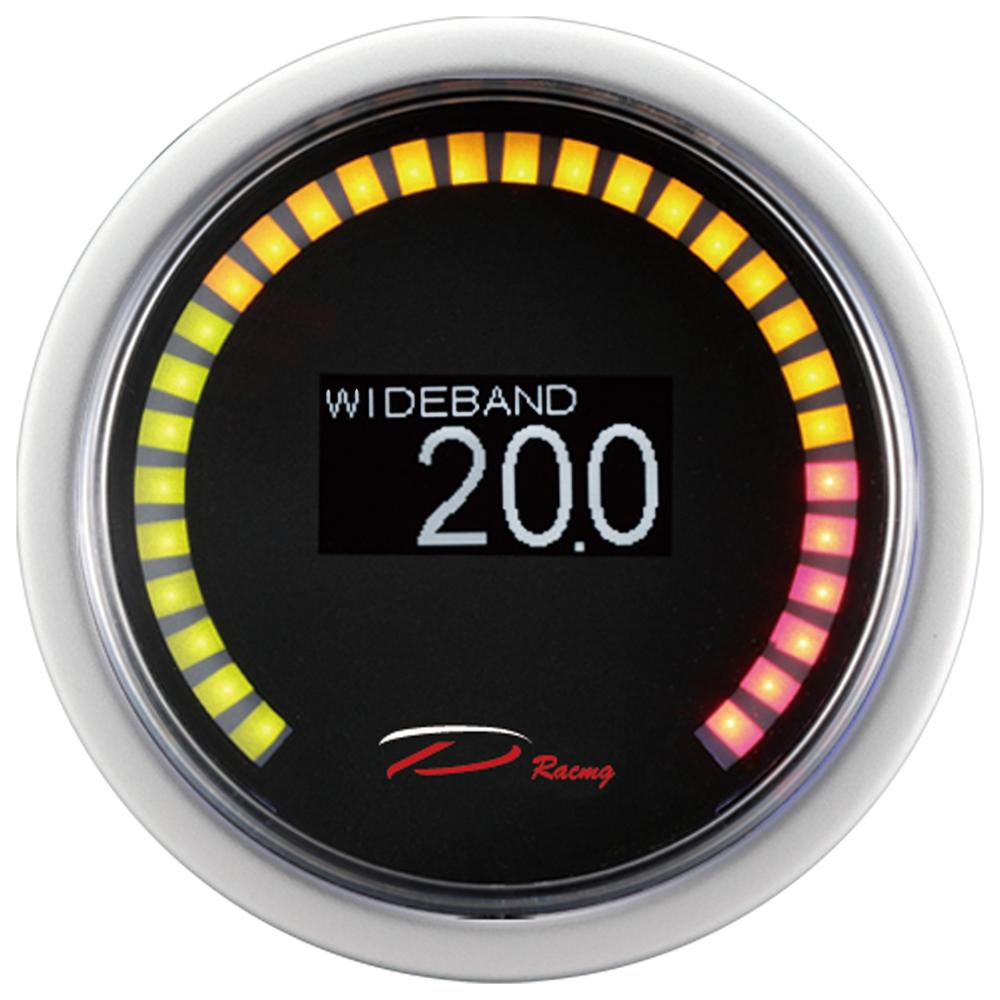 MOTOR METER RACING 2 Digital Oil Temperature Gauge F Blue LED Display Waterproof Pin-Style Install Includes Sensor