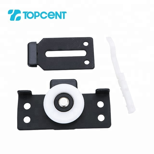 Topcent Iron and nylon embedded wardrobe sliding door roller wheel for sliding door