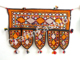Bohemian Door Valance Toran - Vintage Hand Embroidered Toran - Mirror Window Valance Decor