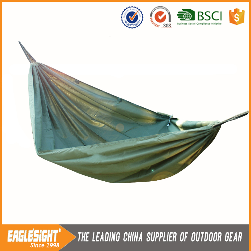 Nylon Parachute Fabric Potable Folding Outdoor Swing Hammock