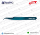 Beautiful Blue Plasma Coated Curved Lash Tweezers || Volume & Classic Tweezers || Precious Points & Sharp Points In Best Prices