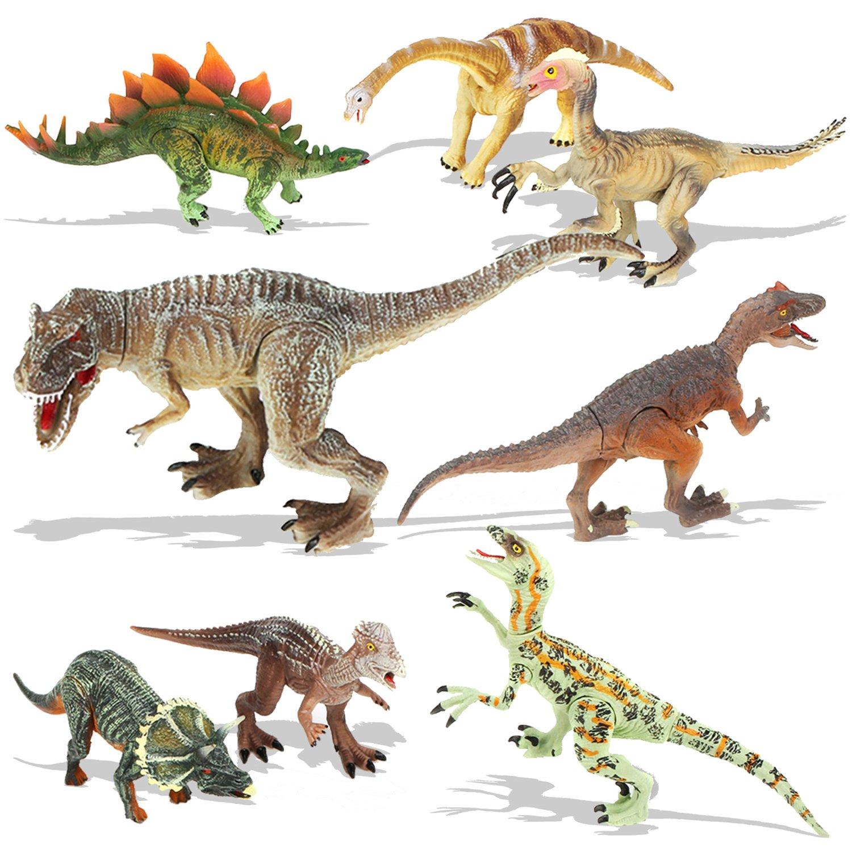Bucket Set Dinosaurs Animals 12//14pcs Assorted Toy Stegosaurus Dinos Toy Figures