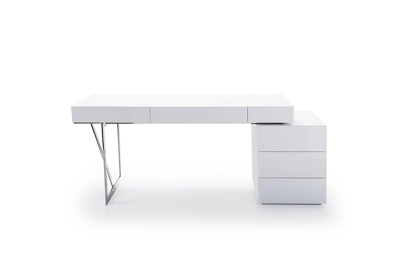 J and M Furniture 18118 Loft Modern Office Desk