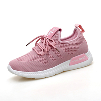Knit upper fashion sneakers shoes women shoes