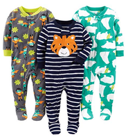 Wholesale new design Baby and Toddler Boys Autumn Loose Fit Fleece Footed Pajamas onesie romper jumpsuit