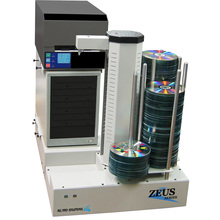 Geautomatiseerde 4-drive CD DVD Blu-Ray Uitgever Duplicator Copier w/Zwart Thermische Printer, Embedded <span class=keywords><strong>PC</strong></span>, & 630 Disc Capaciteit