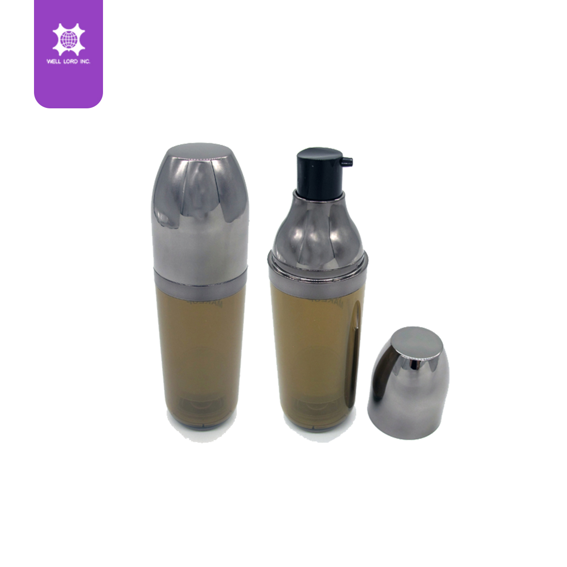 Custom made cosmetic pump for liquid texture clear bottle mini travel use