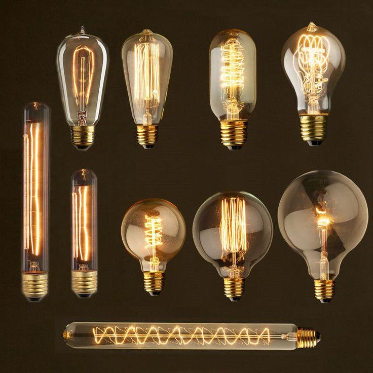 Antique edison st64 vintage light bulb carbon for table lamps 25w antique edison st64 vintage light bulb carbon for table lamps 25w 40w mozeypictures Images