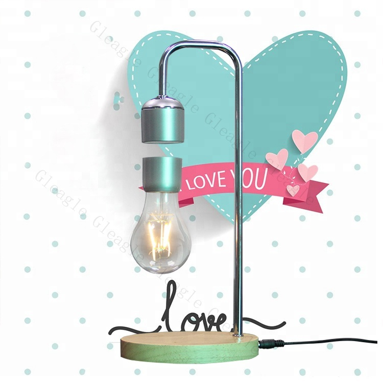 unique birthday expensive gifts box set for wife rocky Led magnetic levitation light Customized Technology Table Lamp For Home