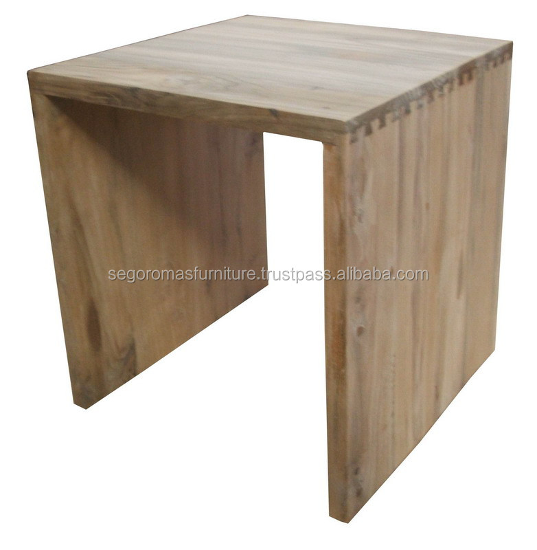 TEAK OUTDOOR FURNITURE - SIDE  TABLE