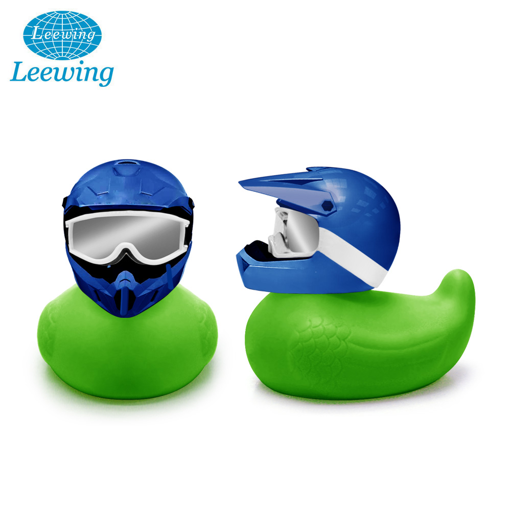 Eco amigable de Motocross de Multi-Color de pato de goma baño en casco