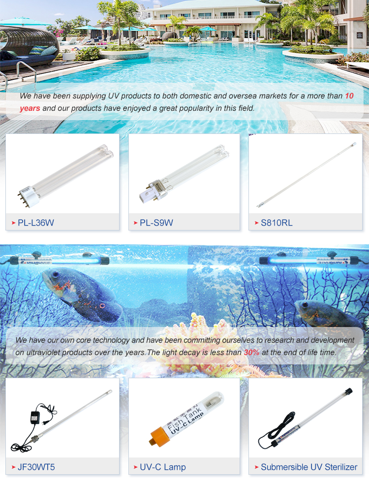 24 watts H type uvc lamps 2G11 base for UV Air purification UV-C Sterilamp H-Shape UVC Germicidal Lamps