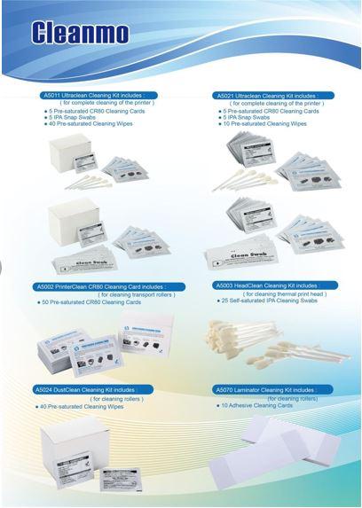 (Preço direto da Fábrica) ACL003 Evolis Compatível Adesivas Cartões de Limpeza