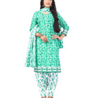Women's Daily Casual Wear Cotton Unstitched Printed Salwar Kameez 2018
