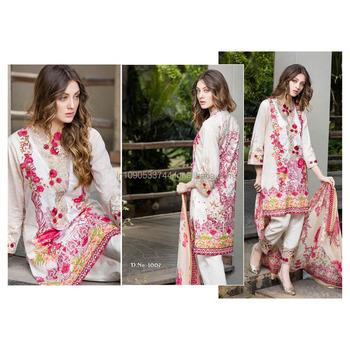 ae494c849 VB Party Wear Semi Stitched Salwar Suit Fancy Churidar Dress Floral Worked  Indo Western