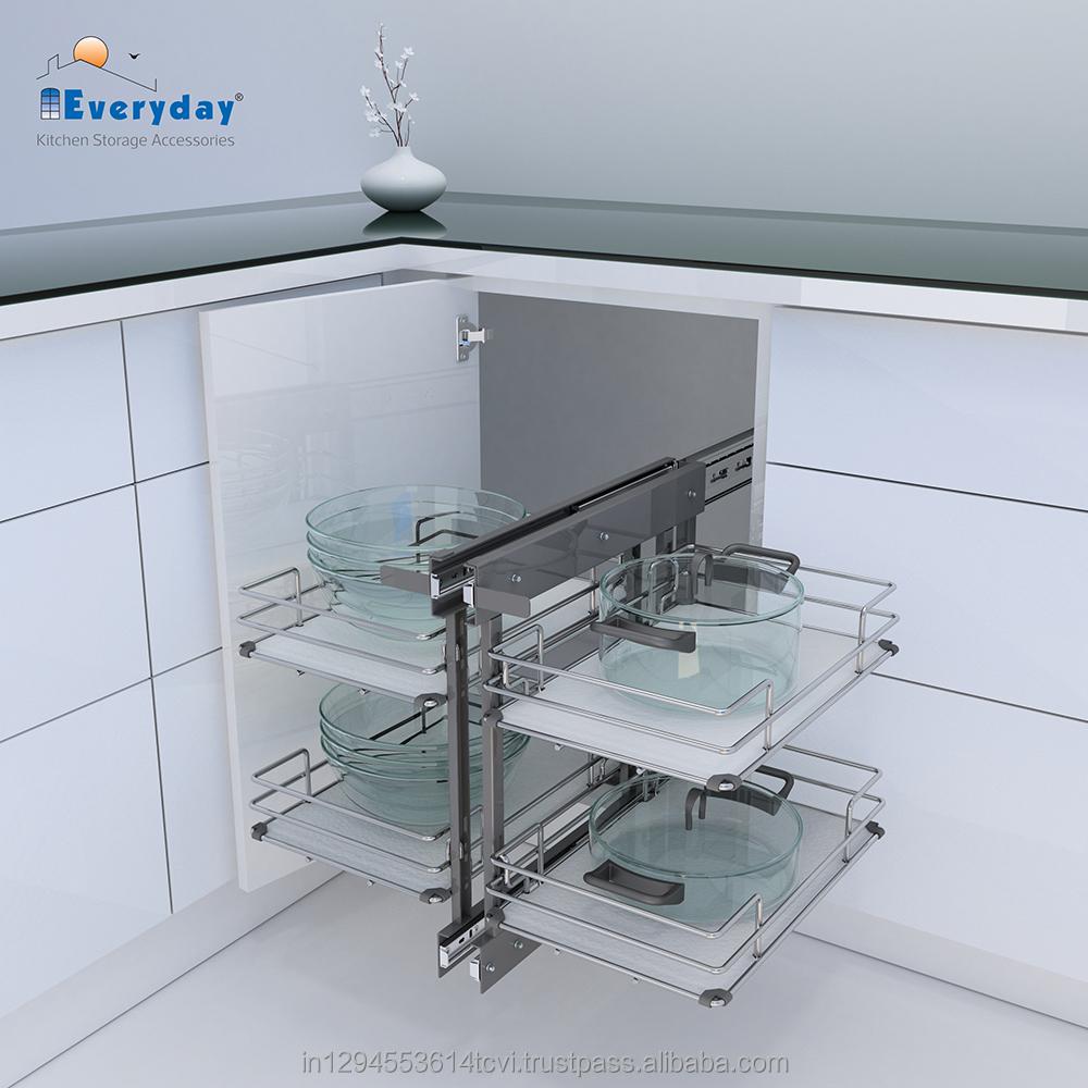 Soft Closing Kitchen Magic Corner - Buy Kitchen Organizer Rack ...