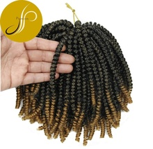 Pearlcoin Ombre Dreads serrures Printemps Torsion Haute Température Fiber Crochet Tresse Extension De Cheveux Curl Tressage Ali Express