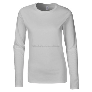 Ladies Custom Raglan long Sleeves Cotton Shirts