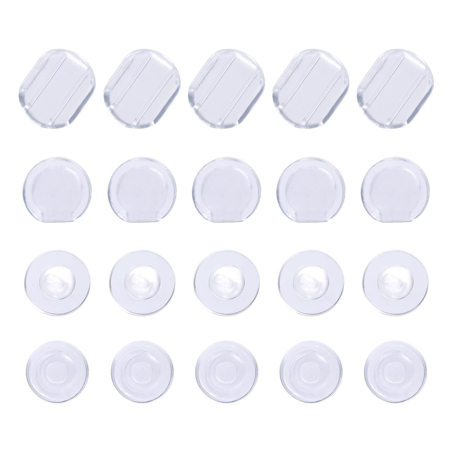 ... Bememo 50 Pieces Earring Pads Silicone Earring Cushion for Clip on Earrings