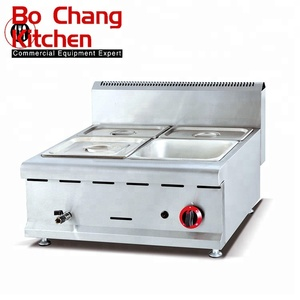 commercial counter top stainless steel gas hot soup bain marie