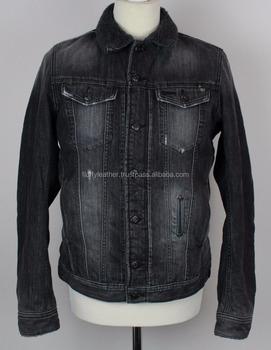 Thick Denim Mens Jean Jacket With Fux Fur Lining Buy Plain Denim