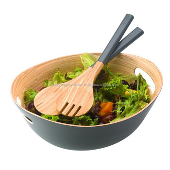Unique Set Of High Quality Bamboo Salad Bowls Buy Bamboo Salad