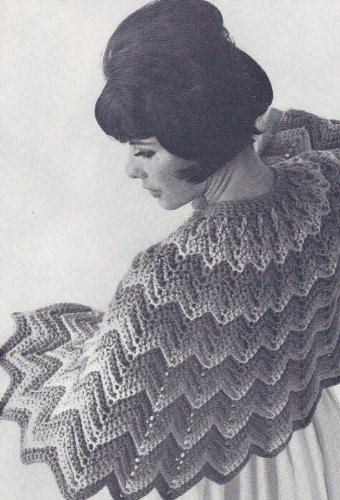 Vintage Crochet Pattern To Make Crocheted Bed Jacket Sweater Cape