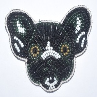 Fashion mouse shape beaded embroidery patch