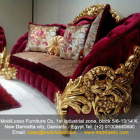 Luxurious European hand carved royal living room sofa set