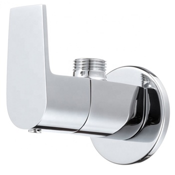 Faucet 2019 New Collection Angular Stop Cock With Wall Flange Chrome Finish -Lycos