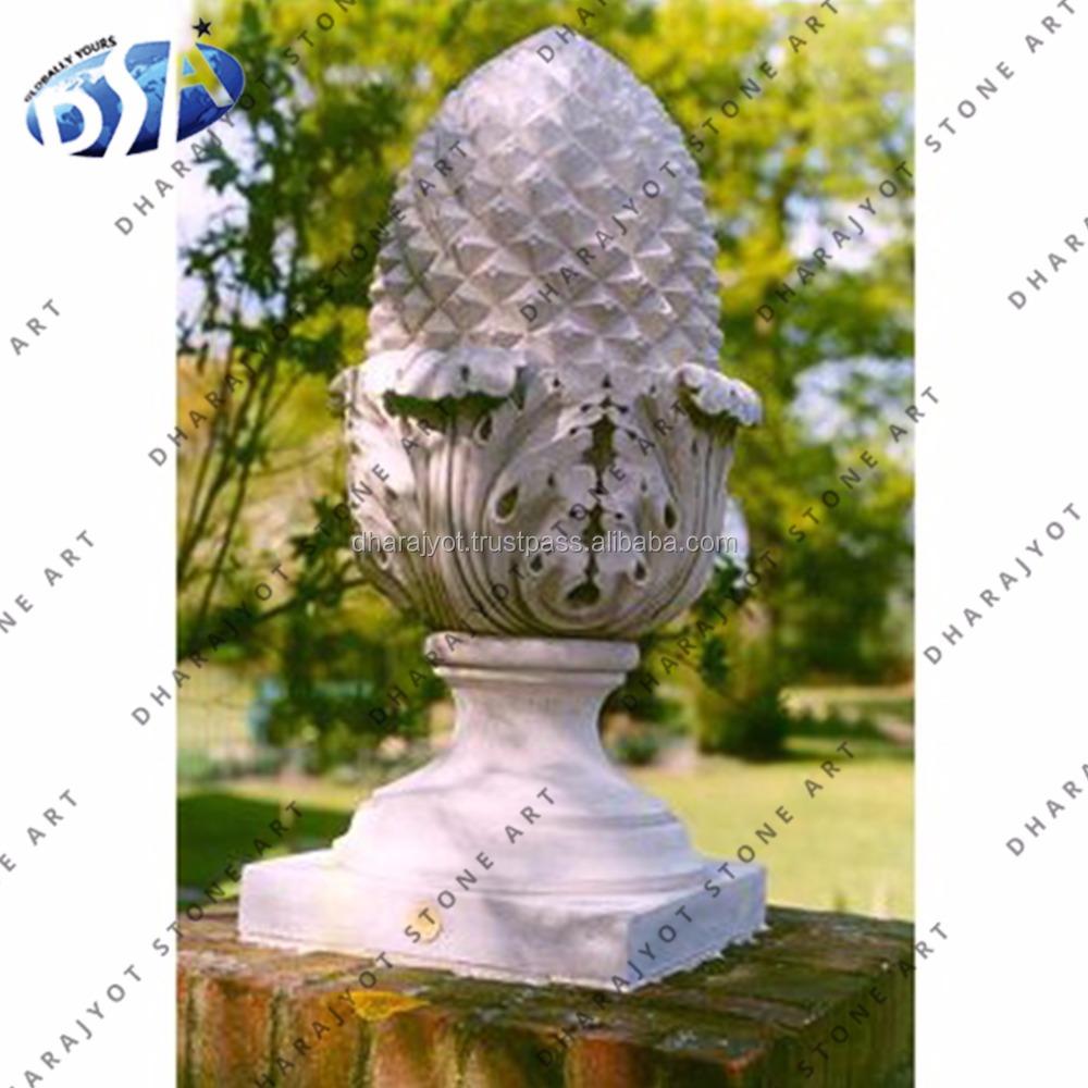 Indoor Ornament Stone Pineapple Finials Decorative Stone Home Decor