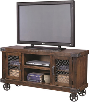 Industrial Style Furniture Black Metal Tv Stand Recycle Black Metal
