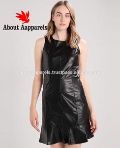 4cd2ad31b66 Top quality woman club dresses leather sexy short bodycon dress